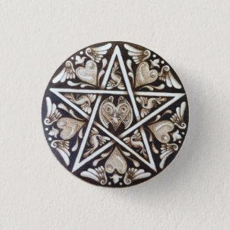 Badge Rond 2,50 Cm Pin punk de bouton de pentagramme de tatouage