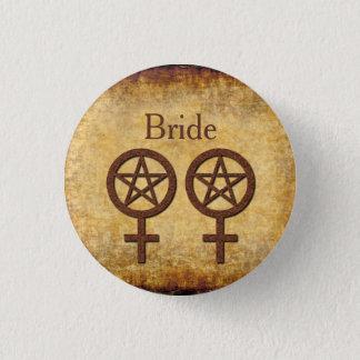 Badge Rond 2,50 Cm Pin rustique de Wiccan pour un Handfasting lesbien