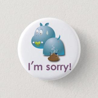 Badge Rond 2,50 Cm Plaque hippopotame