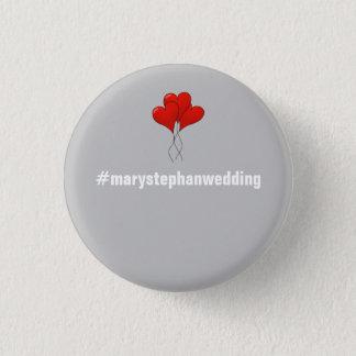 Badge Rond 2,50 Cm Pleins boutons personnalisables de mariage -