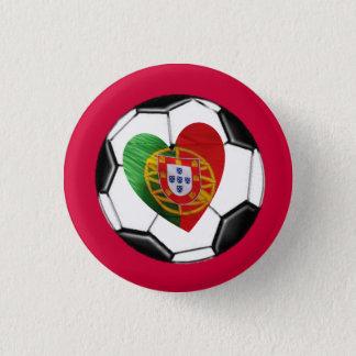 Badge Rond 2,50 Cm Portugais : drapeau et coeur
