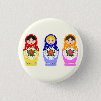 Badge Rond 2,50 Cm Poupées russes de matryoshka