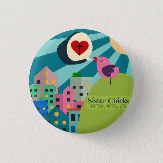 Badge Rond 2,50 Cm Poussins de soeur pour le Pin de Jésus