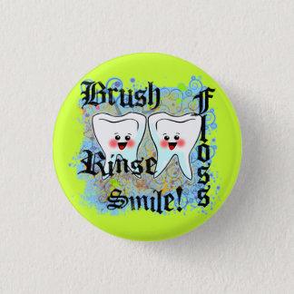 Badge Rond 2,50 Cm Professionnels dentaires de dentistes