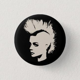 Badge Rond 2,50 Cm Punk Girl - impression unichrome - de crème white
