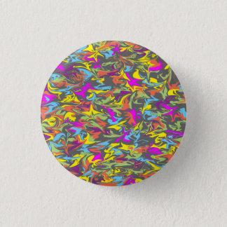 Badge Rond 2,50 Cm Remous colorés sur gris-foncé