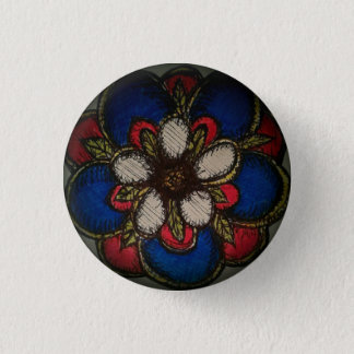 Badge Rond 2,50 Cm Rose d'Américain de la réconciliation