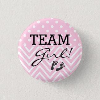 Badge Rond 2,50 Cm Rose de baby shower de fille d'équipe