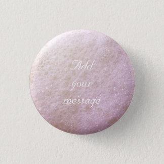 Badge Rond 2,50 Cm Rose/pourpre du point 1260C de bulles de savon