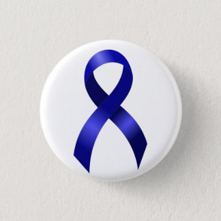 Badge Rond 2,50 Cm Ruban bleu de cancer du colon