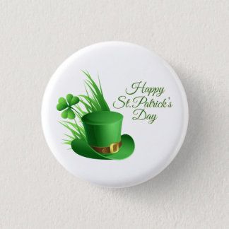 Badge Rond 2,50 Cm Salutations du jour de St Patrick heureux