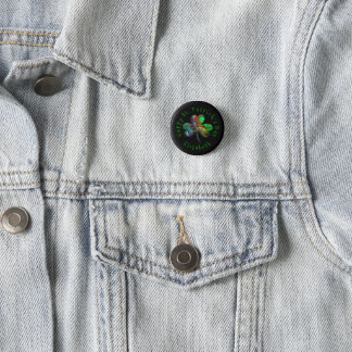 Badge Rond 2,50 Cm Shamrock et nom du jour de St Patrick