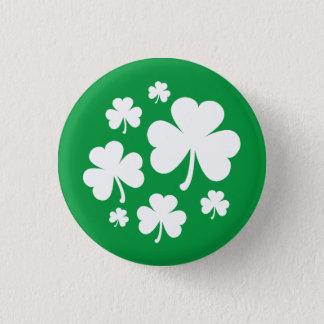 Badge Rond 2,50 Cm Shamrocks irlandais