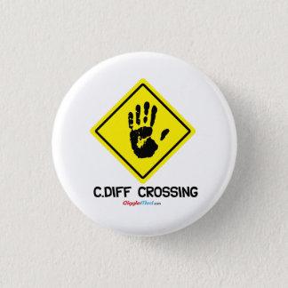Badge Rond 2,50 Cm Signe de C. Diff Crossing