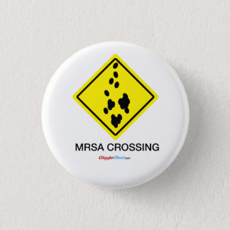 Badge Rond 2,50 Cm Signe de croisement de MRSA