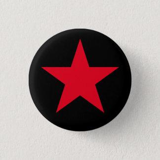 Badge Rond 2,50 Cm Signe rouge de symbole d'étoile de guerre