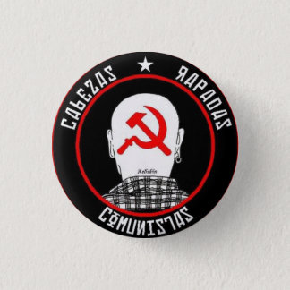 Badge Rond 2,50 Cm Skinhead rouge