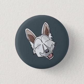 Badge Rond 2,50 Cm Sourire blanc de chien de berger allemand