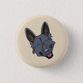 Badge Rond 2,50 Cm Sourire noir de chien de berger allemand