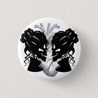 Badge Rond 2,50 Cm Squelette femelle de couples avec l'insigne