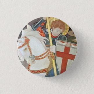 Badge Rond 2,50 Cm St George massacrant le dragon