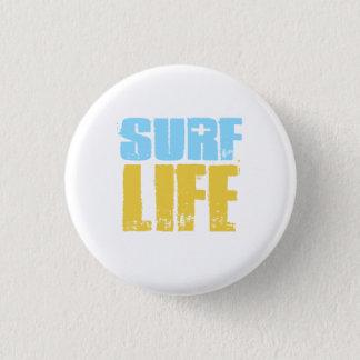 Badge Rond 2,50 Cm Style de surfer de plage de la vie de surf