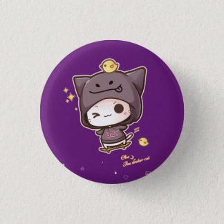 Badge Rond 2,50 Cm Sweat - shirt à capuche de port de kawaii de chat