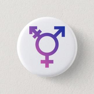 Badge Rond 2,50 Cm Symbole de transsexuel