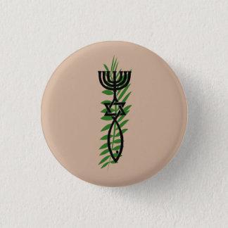 Badge Rond 2,50 Cm Symbole du Messie avec la branche de paume