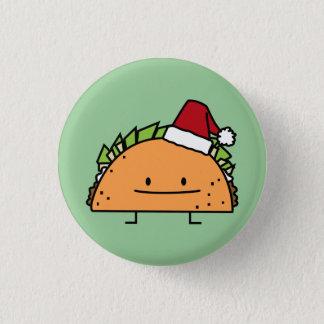 Badge Rond 2,50 Cm Taco portant le Salsa de viande de coquille de