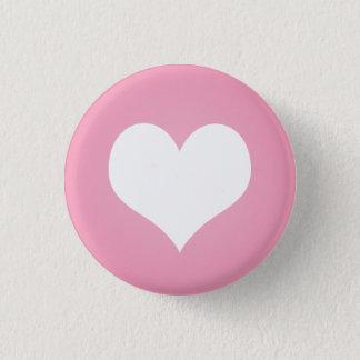Badge Rond 2,50 Cm Talent blanc de coeur