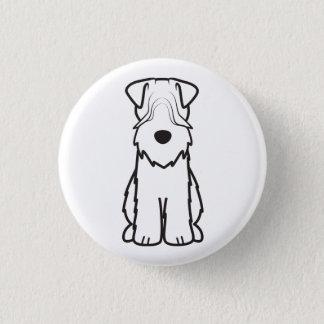 Badge Rond 2,50 Cm Terrier blond comme les blés doucement enduit