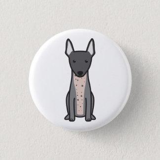 Badge Rond 2,50 Cm Terrier chauve américain