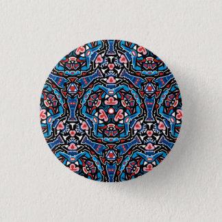 Badge Rond 2,50 Cm Tiki a inspiré le bouton de motif