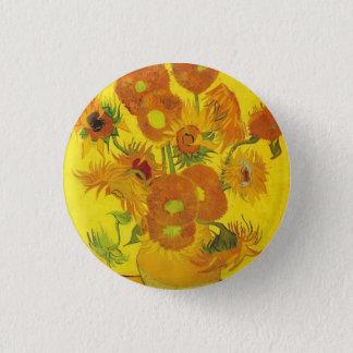 Badge Rond 2,50 Cm Tournesols par Vincent van Gogh