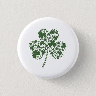 Badge Rond 2,50 Cm Trèfle irlandais de shamrock du jour de St Patrick