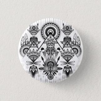 Badge Rond 2,50 Cm Tribal indien indigène antique abstrait