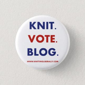 Badge Rond 2,50 Cm Tricotage libéralement du bouton