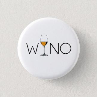 Badge Rond 2,50 Cm Verre d'amateur de vin de Wino