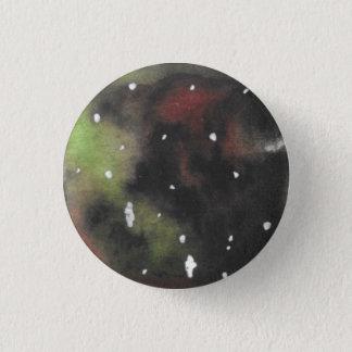 Badge Rond 2,50 Cm Vert et bouton tourbillonné rouge foncé de Pinback