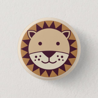 Badge Rond 2,50 Cm Visage mignon de lion