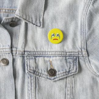 Badge Rond 2,50 Cm Visage triste Emoji