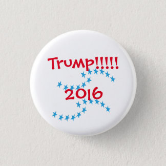 Badge Rond 2,50 Cm Vitesse d'élection d'étoiles de Donald Trump 2016