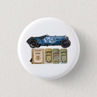 Badge Rond 2,50 Cm Voiture vintage bleue