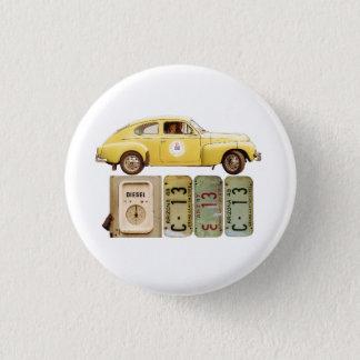 Badge Rond 2,50 Cm Voiture vintage jaune