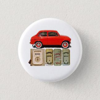 Badge Rond 2,50 Cm Voiture vintage rouge