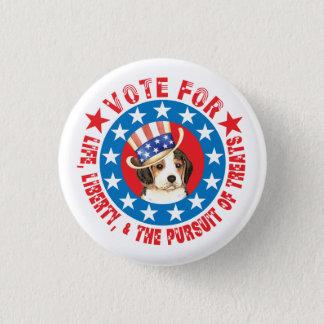 Badge Rond 2,50 Cm Vote pour le beagle