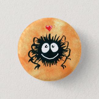 Badge Rond 2,50 Cm Webber l'araignée aime Halloween !