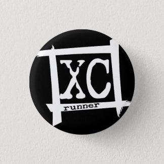 Badge Rond 2,50 Cm XC coureur de pays croisé