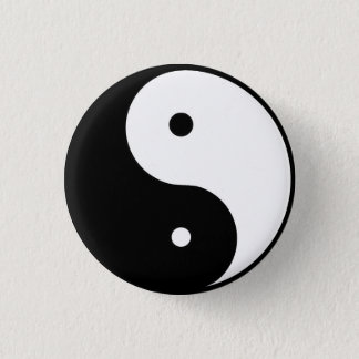 Badge Rond 2,50 Cm ying et Yang